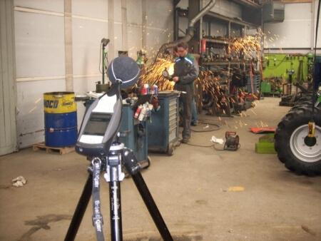 fotoimpressie van diverse geluidsmeting projecten