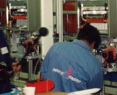 geluid van de productielijn Nefit
